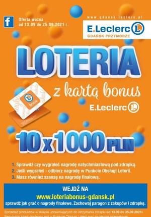 Gazetka promocyjna E.Leclerc - Wielka loteria w E.Leclerc Gdańsk