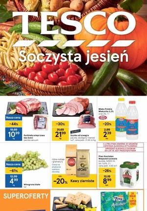 Gazetka promocyjna Tesco Centra Handlowe - Soczysta jesień z Tesco
