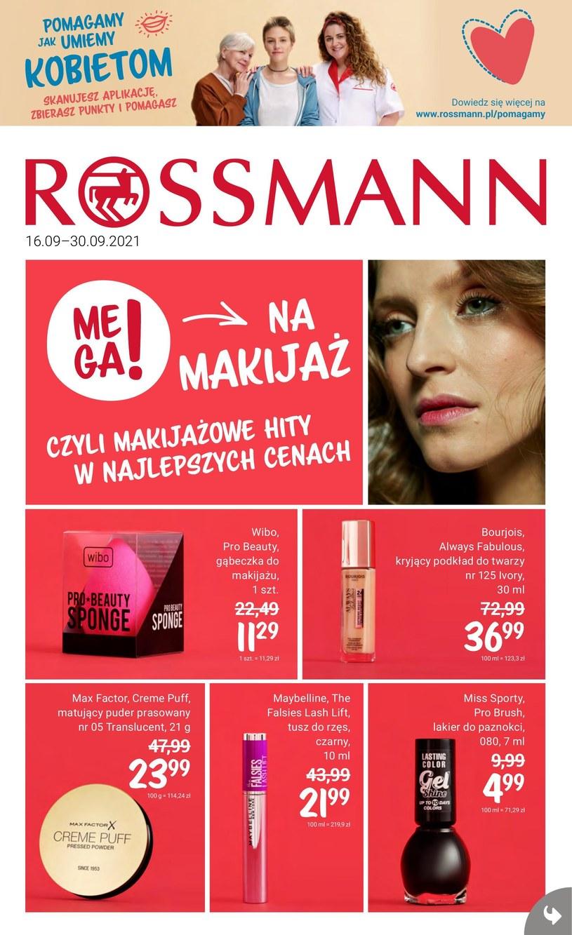 Gazetka promocyjna Rossmann - ważna od 16. 09. 2021 do 30. 09. 2021