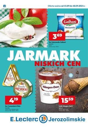 Gazetka promocyjna E.Leclerc - Jarmark niskich cen w E.Leclerc Jerozolimskie