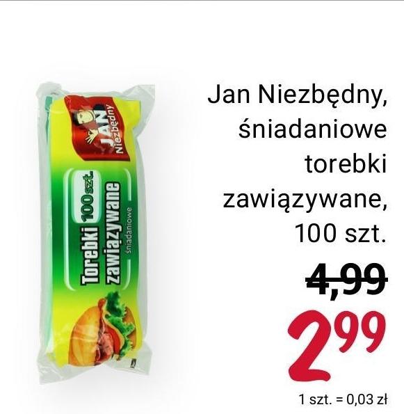 Torebki śniadaniowe Jan Niezbędny niska cena