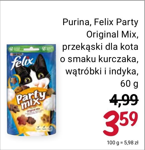 Przekąska dla kota Felix niska cena