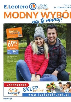 Gazetka promocyjna E.Leclerc - Modny wybór Elbląg