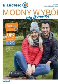 Gazetka promocyjna E.Leclerc - Modny wybór - oferta dotyczy wybranych sklepów