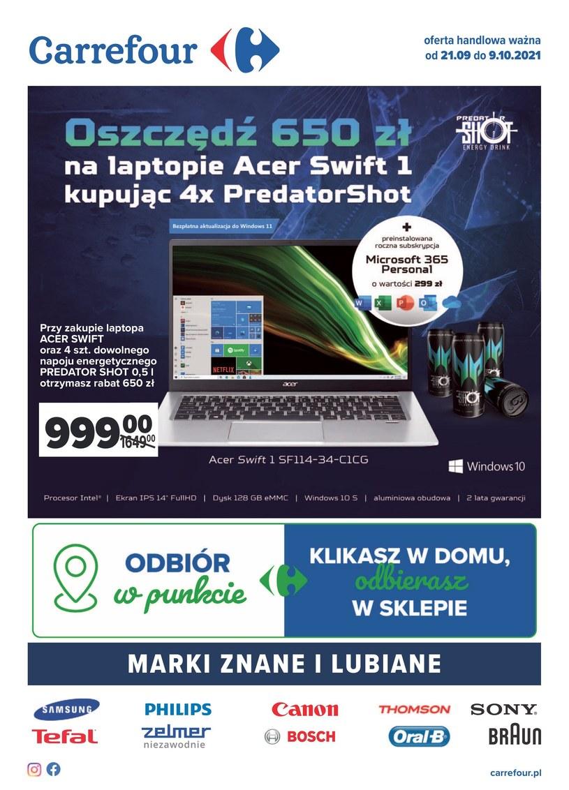 Gazetka promocyjna Carrefour - ważna od 21. 09. 2021 do 09. 10. 2021