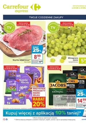 Gazetka promocyjna Carrefour Express - Codzienne zakupy w Carrefour Express