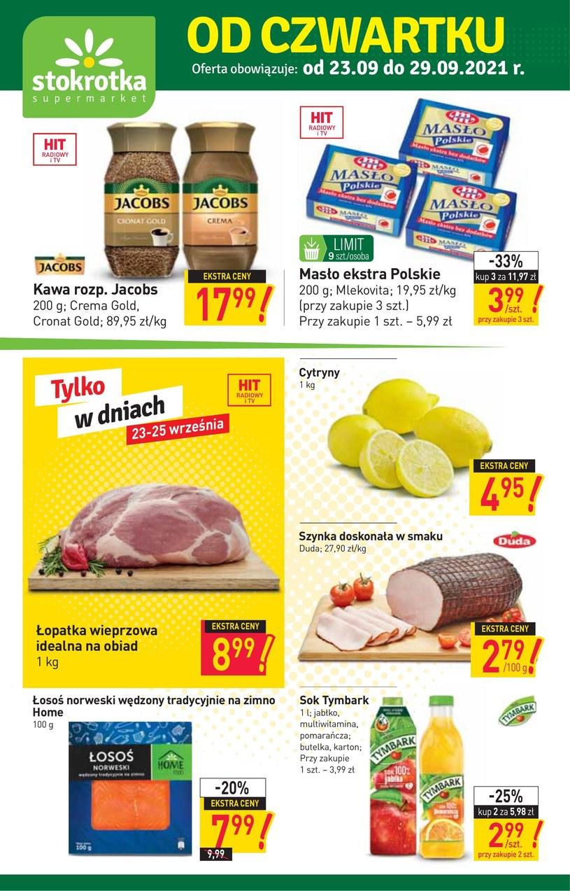 Gazetka promocyjna Stokrotka Supermarket - ważna od 23. 09. 2021 do 29. 09. 2021