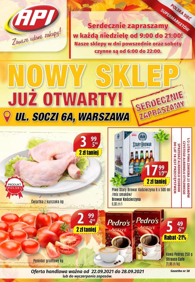 Gazetka promocyjna Api Market - ważna od 22. 09. 2021 do 28. 09. 2021