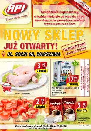 Gazetka promocyjna Api Market - Nowe otwarcie Api Market