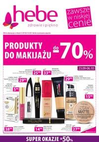 Gazetka promocyjna Hebe - Postaw na makijaż  Hebe