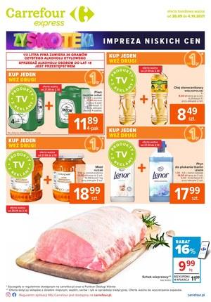 Gazetka promocyjna Carrefour Express - Carrefour Express - impreza niskich cen