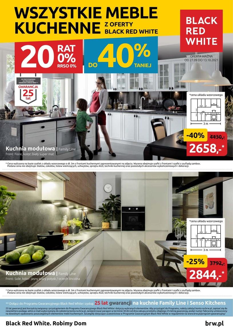 Gazetka promocyjna Black Red White - ważna od 27. 09. 2021 do 13. 10. 2021