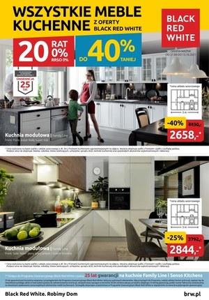 Gazetka promocyjna Black Red White - Meble kuchenne do -40% taniej w Black Red White!