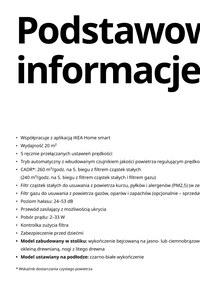 Gazetka promocyjna IKEA - Inteligentne oczyszczacze powietrza od IKEA