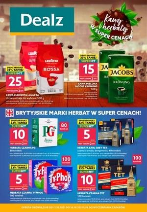 Gazetka promocyjna Dealz - Kawy i herbaty w super cenach - Dealz