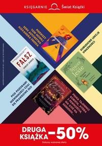 Gazetka promocyjna Księgarnie Świat Książki - Druga książka o połowę taniej w Księgarnie Świat Książki