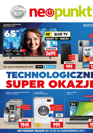 Gazetka promocyjna NEOPUNKT - Technologiczne okazje w NEOPUNKT
