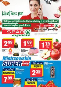 Gazetka promocyjna SPAR Express - Spar Express - mistrzowskie super ceny - ważna do 30-10-2021
