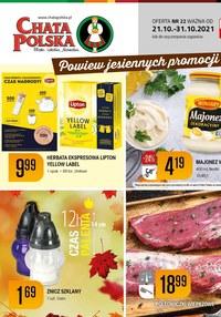 Gazetka promocyjna Chata Polska - Chata Polska - powiew jesiennych promocji - ważna do 31-10-2021