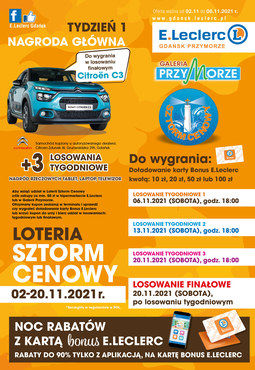 E.Leclerc Gdańsk - sztorm cenowy!