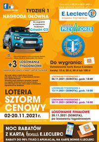 Gazetka promocyjna E.Leclerc - E.Leclerc Gdańsk - sztorm cenowy!