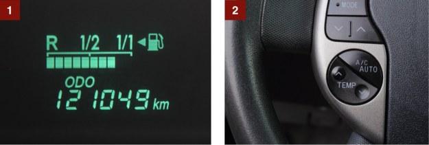 [1] 125 000 km to dopiero początek. W Stanach nie brak Priusów, które przejechały 300 000 mil. [2] Nietypowy pomysł: regulacja temperatury z kierownicy. /Motor