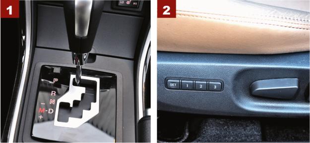 [1] Automatyczna skrzynia biegów łączy się tylko z silnikami benzynowymi. [2] Elektrycznie sterowane fotele z pamięcią: nie warto, jeśli jeździ jeden kierowca. /Motor