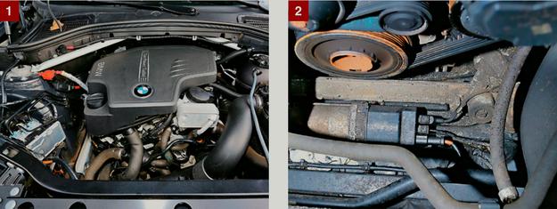 """[1] BENZYNOWY SILNIK 2.0 TURBO: uwaga na przypadki """"niewydolności"""" pompy olejowej. Problem dotyczy wersji 245 KM. [2] PRZEKŁADNIA KIEROWNICZA: szczególnie mało trwały element, wiele aut ma już drugą (wymienioną na gwarancji). /Motor"""