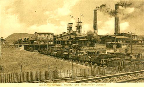 """1 Kopalnia """"Giesche"""" na zdjęciu archiwalnym. Źródło: www.incubator.wikimedia.org /&nbsp"""