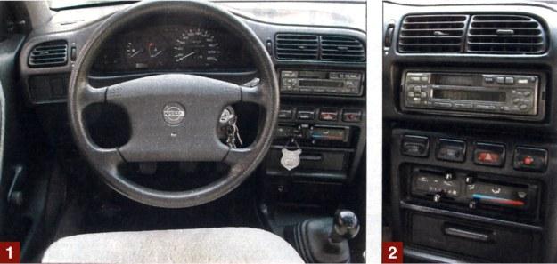 [1] Na wzornicze fajerwerki nikt się tutaj nie silił, kierowca ma przed sobą prostą, funkcjonalną tablicę przyrządów. Wszystkie elementy obsługi są w zasięgu ręki. [2] Do regulacji nawiewów służyły suwaki. Po latach działają nieco opornie. /Motor