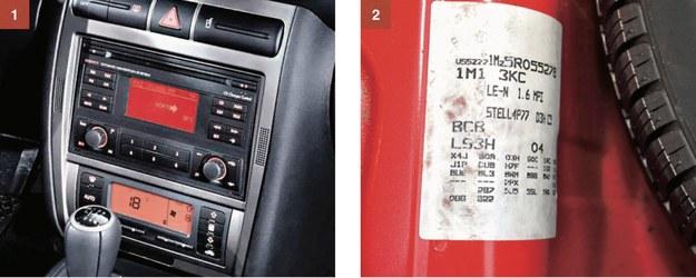 [1] Najbogatsze wersje (FR, Cupra) mają radio 2DIN i klimatyzację automatyczną Climatronic. [2] Kody z naklejki pod wykładziną bagażnika można rozkodować dzięki stronie www.vwgolf.pl. /Motor