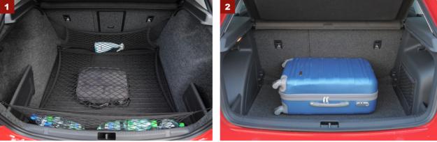 [1] Największy atut Rapida: funkcjonalny bagażnik 550 l. [2] Bagażnik wersji Spaceback jest mniejszy – ma 442 l. /Motor