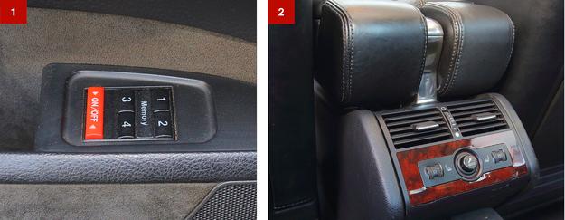 """[1] Przednie fotele mogą """"zapamiętać"""" aż do czterech ustawień. [2] Można trafić na wersję z podgrzewaniem tylnej kanapy. /Motor"""