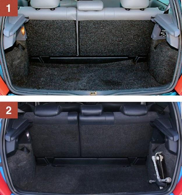 [1] RENAULT CLIO SPORT II [2] RENAULT CLIO SPORT II FL Na bagażnik nie można narzekać – ma 255-1035 l, a kanapa jest dzielona. /Motor