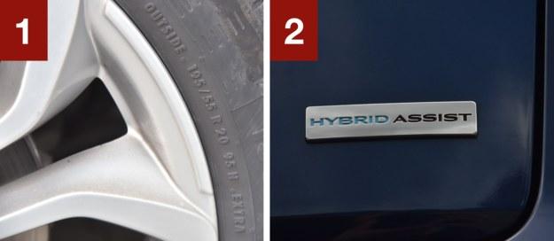[1] Wszystkie Sceniki mają koła 20-calowe. Komplet zimówek kosztuje więc niemal 3000 zł. [2] Hybrydowe wspomaganie to mały silnik elektryczny z funkcją odzysku energii. /Motor