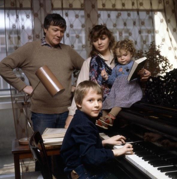 foto de Anna Seniuk z mężem i dziećmi (zdjęcia archiwalne