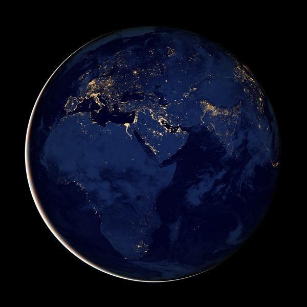 Ziemia Widziana Noca Swiat