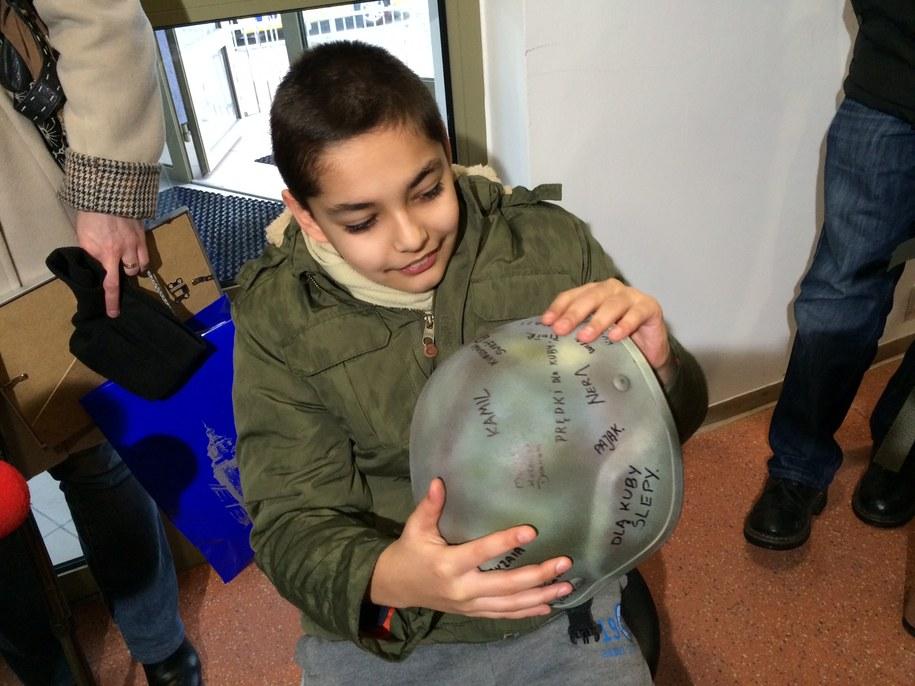 10-letni Kuba z wizytą u lubelskich antyterrorystów /Krzysztof Kot /RMF FM