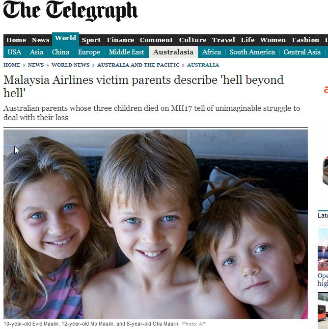 10-letnia Evie Maslin, 12-letni Mo Maslin i najmłodszy 8-letni Otis Maslin /The Telegraph /
