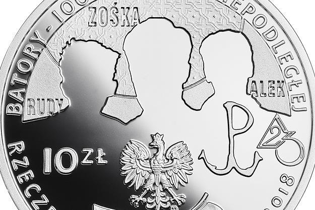 100-lecie powstania Gimnazjum i Liceum im. Stefana Batorego w Warszawie, 10 zł, detal awersu /NBP