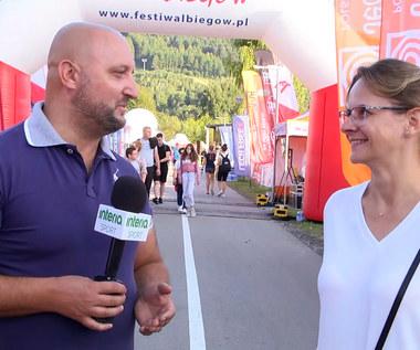 12. Festiwal Biegów w Piwnicznej-Zdroju. Prezes Fundacji Anna Czerwińska. Wideo
