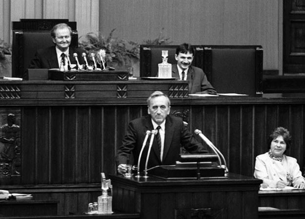 12 września 1989 roku Sejm powołał rząd Tadeusza Mazowieckiego fot. Krzysztof Wójcik /Agencja FORUM