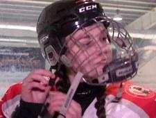13-letnia hokeistka dostała pozwolenie na grę w męskiej drużynie. Wideo