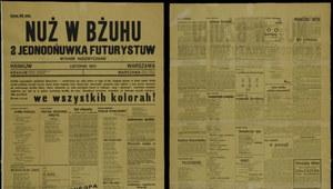 "13 listopada 1921 r. ""Nuż w bżuhu"""