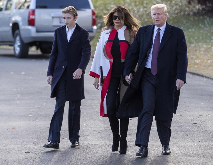 14-letni Barron Trump to najmłodszy syn prezydenta Stanów Zjednoczonych /ERIK S. LESSER /PAP/EPA