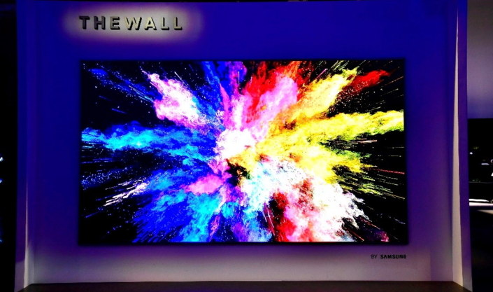 """146-calowy telewizor """"The Wall"""". /Samsung /materiały promocyjne"""