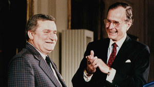 15 listopada 1989 r. Lech Wałęsa w Kongresie