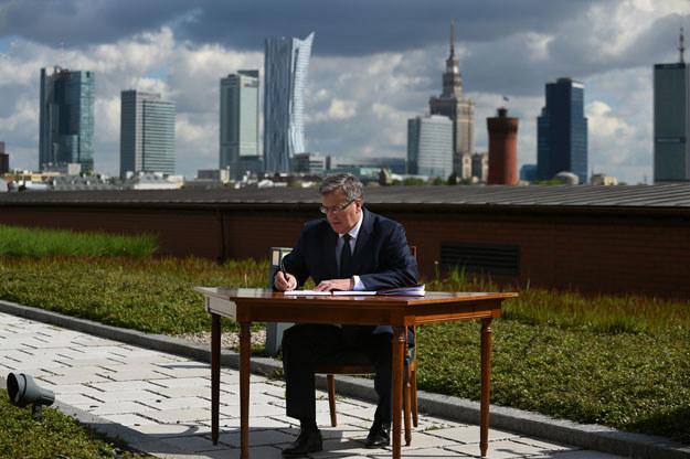 15 maja prezydent Bronisław Komorowski podpisał ustawę krajobrazową w warszawskiej Stacji Filtrów /Adam Chełstowski /Agencja FORUM