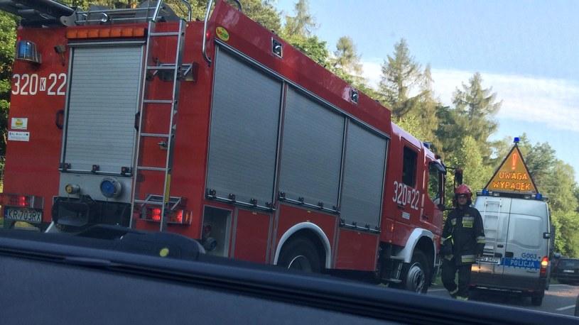 15 zastępów straży pożarnej walczy z pożarem (zdjęcie ilustracyjne) /Monika Kamińska /RMF FM