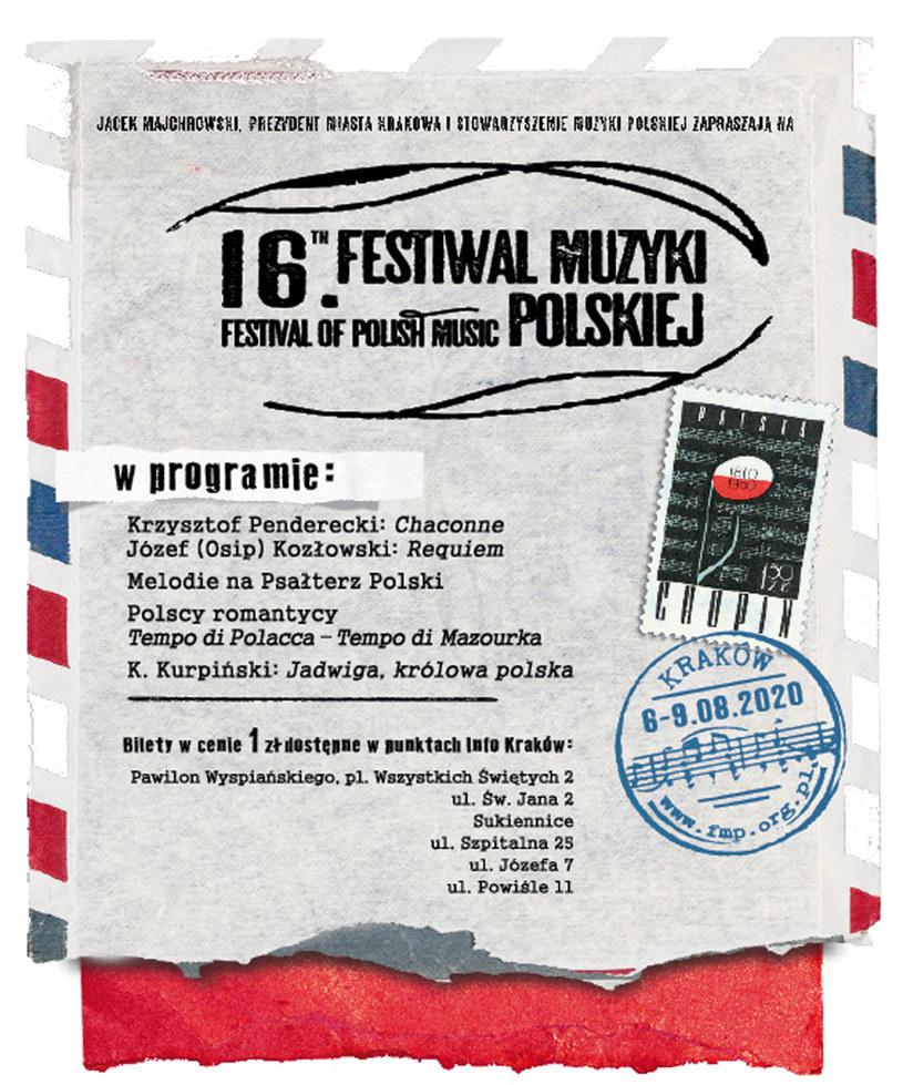 16. Festiwal Muzyki Polskiej w Krakowie /materiały prasowe
